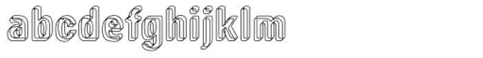 Low Tech Regular Font LOWERCASE