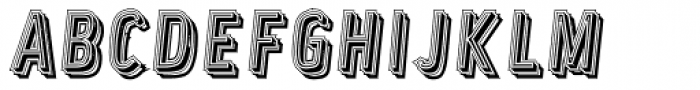 Lower Metal Shadow Font UPPERCASE