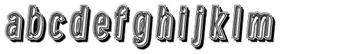 Lower Metal Shadow Font LOWERCASE