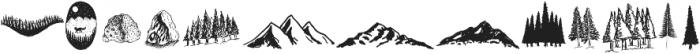 LS Dingbats Outdoor otf (400) Font UPPERCASE