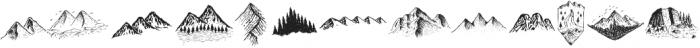 LS Dingbats Outdoor otf (400) Font LOWERCASE