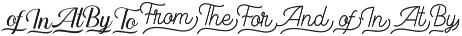 LS Harsey Catchwords Script otf (400) Font LOWERCASE