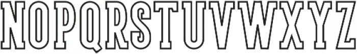 LS Harsey Serif Outline otf (400) Font UPPERCASE