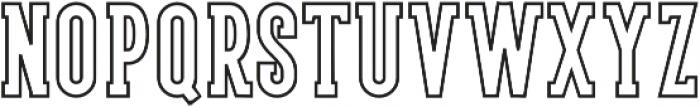 LS Harsey Serif Outline otf (400) Font LOWERCASE