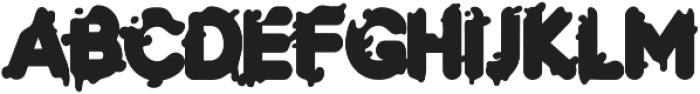 LS-paper-orange-R otf (400) Font LOWERCASE