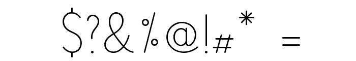 LS-Light Font OTHER CHARS