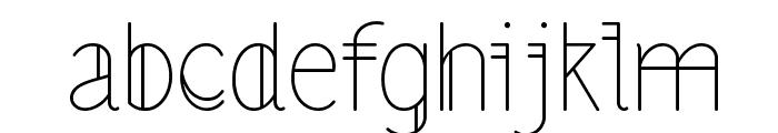 LS-LightAlt Font LOWERCASE