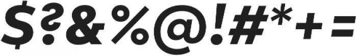 Lto Poligon Extra Bold Italic otf (700) Font OTHER CHARS