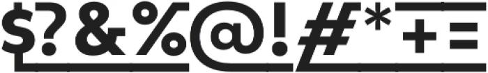 Lto Poligon Extra Bold Link otf (700) Font OTHER CHARS
