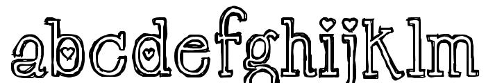 LT Chickenhawk Font LOWERCASE