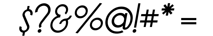 LT Oksana Italic Font OTHER CHARS