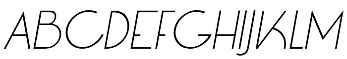 LT Oksana Light Italic Font UPPERCASE