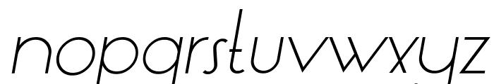 LT Oksana Light Italic Font LOWERCASE