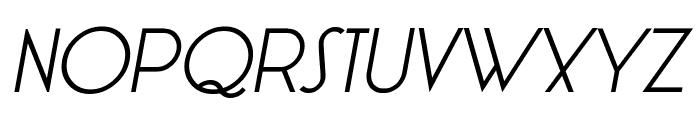 LT Oksana Regular Italic Font UPPERCASE