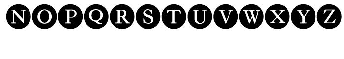 LTC Circled Caps Filled Font UPPERCASE