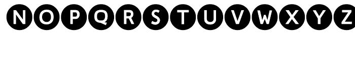 LTC Circled Caps Filled Font LOWERCASE