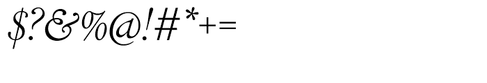 LTC Cloister Light Italic Font OTHER CHARS