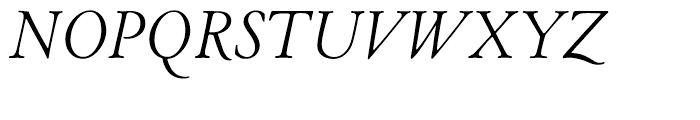 LTC Cloister Light Italic Font UPPERCASE