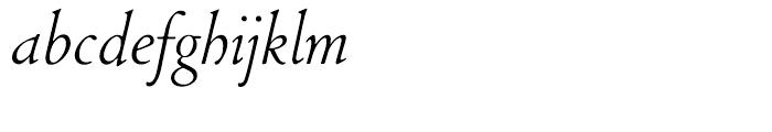 LTC Cloister Light Italic Font LOWERCASE