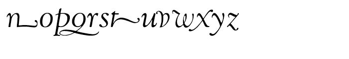 LTC Goudy Oldstyle Cursive Font LOWERCASE