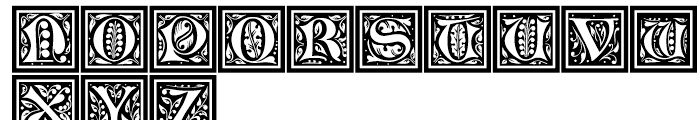 LTC Jacobean Initials A Framed Font LOWERCASE