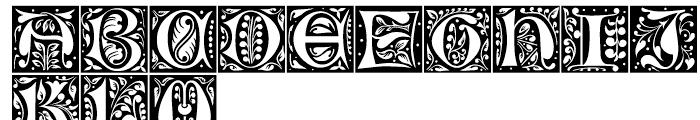 LTC Jacobean Initials A Font LOWERCASE