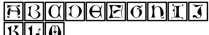 LTC Jacobean Initials B Framed Font LOWERCASE