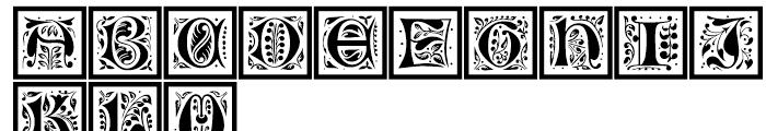 LTC Jacobean Initials C Framed Font UPPERCASE