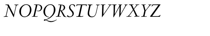 LTC Metropolitan Italic Font UPPERCASE
