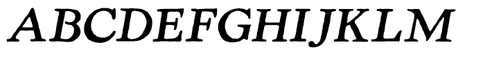 LTC Powell Italic Font UPPERCASE