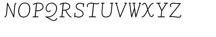 LTC Remington Typewriter Italic Font UPPERCASE