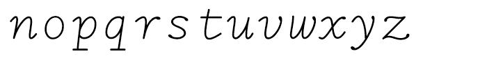 LTC Remington Typewriter Italic Font LOWERCASE