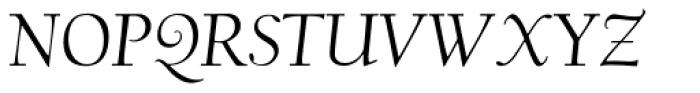 LTC Californian Display Pro Italic Font UPPERCASE