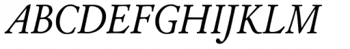 LTC Cloister Italic Font UPPERCASE
