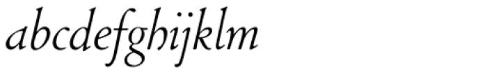 LTC Cloister Light Cursive Font LOWERCASE
