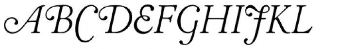 LTC Cloister Light Swash Font UPPERCASE