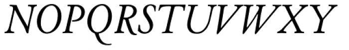 LTC Cloister Pro Italic Font UPPERCASE