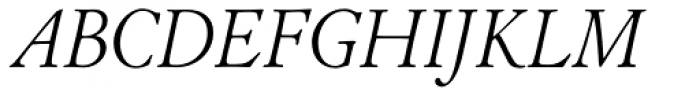 LTC Cloister Pro Light Italic Font UPPERCASE