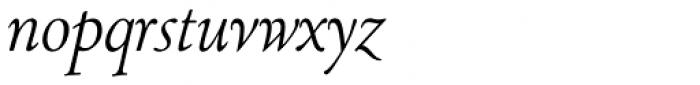 LTC Cloister Pro Light Italic Font LOWERCASE