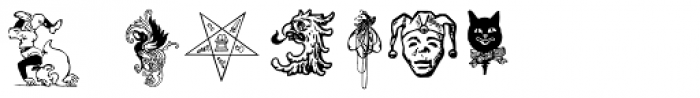 LTC Creepy Ornaments Font OTHER CHARS
