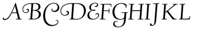 LTC Deepdene Italic Swash SCOSF Font UPPERCASE