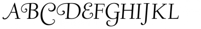 LTC Deepdene Italic Swash Font UPPERCASE