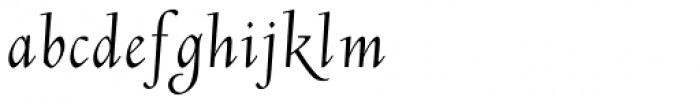 LTC Deepdene Italic Swash Font LOWERCASE