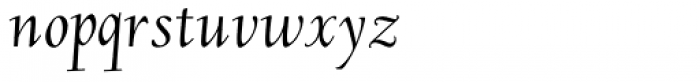 LTC Deepdene Pro Italic Font LOWERCASE