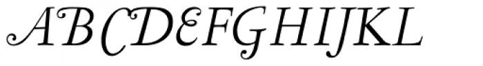 LTC Garamont Display Italic Swash Font UPPERCASE