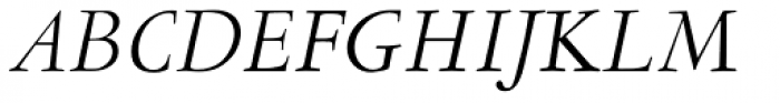 LTC Garamont Display Italic Font UPPERCASE