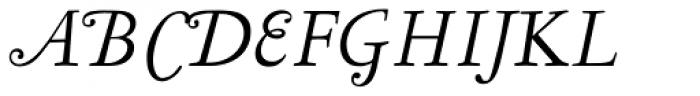 LTC Garamont Text Italic Swash Font UPPERCASE