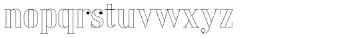 LTC Glamour Hairline Engraved Font LOWERCASE