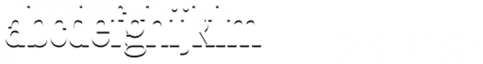 LTC Glamour Shadow Font LOWERCASE