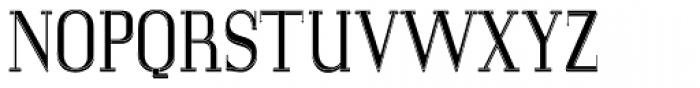 LTC Glamour Woodtype Font UPPERCASE